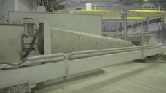 The papermaking process the paper mill Stock Footage