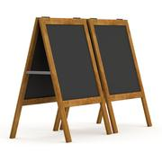 Sandwich board. Black menu outdoor display with clipping path Stock Illustration