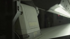 Close-up of the machine is running at the factory Stock Footage