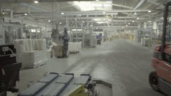 Car loader work in a paper factory Stock Footage