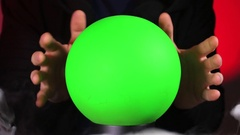Magic Ball with Green Screen Stock Footage