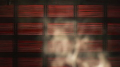 Smoke With Bamboo Background Stock Footage