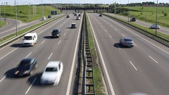 Traffic on highway freeway expressway Stock Footage