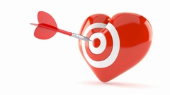 Heart with bull's eye Stock Footage