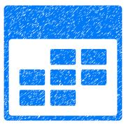Calendar Month Grid Grainy Texture Icon Stock Illustration