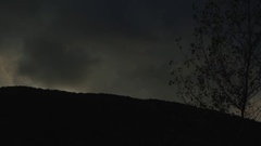 Dark clouds crossing a mysterious sky Stock Footage