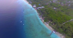 Flying towards Gili meno Stock Footage