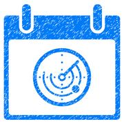 Radar Calendar Day Grainy Texture Icon Stock Illustration