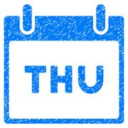 Thursday Calendar Page Grainy Texture Icon Stock Illustration
