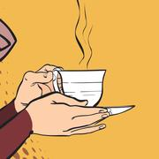 A cup of hot drink. A cup of tea. Stock Illustration