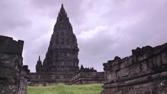 Temple of Prambanan. Timelapse Stock Footage