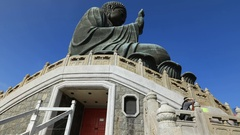 Tian Tan Buddha Lantau Stock Footage