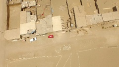 Aerial of huts in a Slum. South America Stock Footage