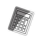 Calculator math device Stock Illustration