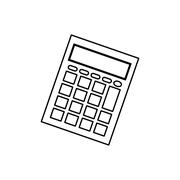 Calculator math device Piirros