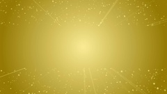 Loopable background flying particles in light beams Stock Footage