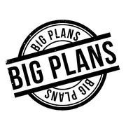Big Plans rubber stamp Stock Illustration