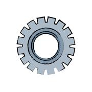 Gear machinery piece Stock Illustration