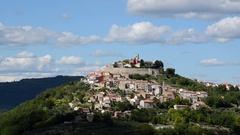 City of Motovun, village in central Istria, Croatia Stock Footage