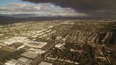 Los Angeles Stormy Clouds Aerial Shot Arkistovideo