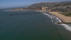 Aerial of Ventura Pier Stock Footage
