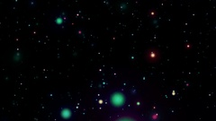 Colored Circles Particles On Black Background Stock Footage