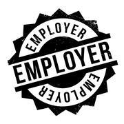 Employer rubber stamp Stock Illustration