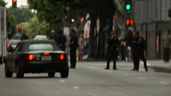 LAPD Yellow Tape, Zoom Out Stock Footage