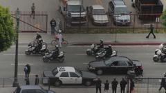 Caravan of Police Motorcycles Stock Footage
