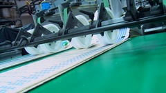 Paper products in offset printing facility Stock Footage