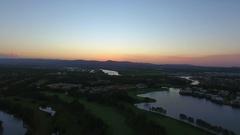 Sunset in Australian suburbia Stock Footage