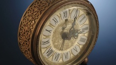 Tracking shot of antique clock Stock Footage