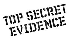 Top Secret Evidence rubber stamp Stock Illustration