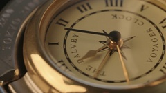 Macro footage of antique compass Stock Footage