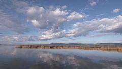 Marsh Reflection at Bear Lake Wildlife Refuge Idaho Stock Footage