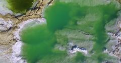 Dead Sea sinkhole   Crane up Stock Footage