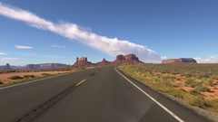 Monument Valley Driving Plate 07 USA Desert Stock Footage
