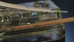 Close up shot of antique quill and pen Stock Footage