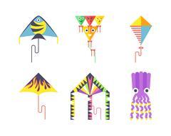 Kite icon vector Stock Illustration