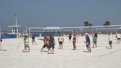 Beach volleyball, Clearwater, Florida, USA Stock Footage