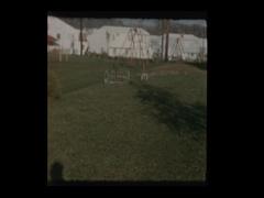 Suburban neighborhood subdivison homes and backyards Stock Footage