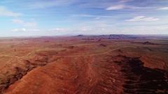 Bears Ears Aerial Shot of Rock Formation in Utah Desert Stock Footage