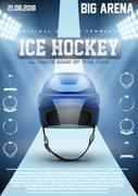 Poster Template of Ice Hockey Games Stock Illustration