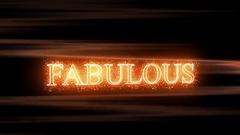 Fabulous Glitter Text Stock Footage