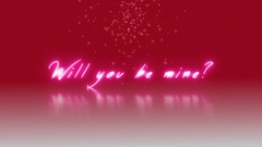 Will you be mine Animated Text Stock Footage