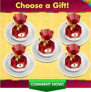 Choose a gift win a prize Stock Illustration