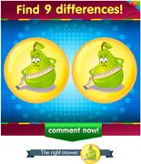 Differences the funny pear  Stock Illustration