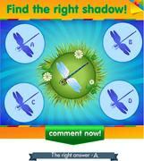 Find right shadow dragonfly Stock Illustration