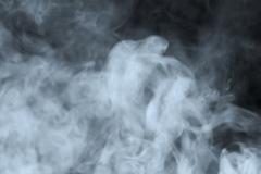 Smoke slowly floating through space Stock Illustration