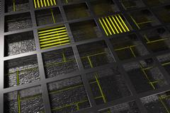 Futuristic technological or industrial background made from brushed metal g.. Stock Illustration